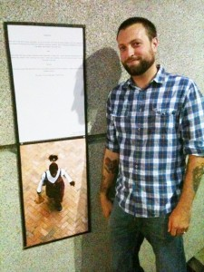 James Hayes Nichols with His Poems Published in Loose Change at a Gallery Presentation